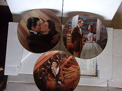 """Bradford """"Gone With The Wind"""" Lot of 3 Plates"""