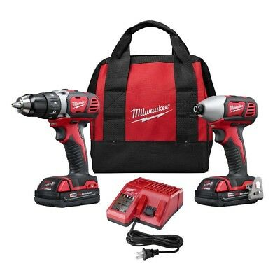 Milwaukee 2691-22 M18 Lithium-Ion Cordless Drill Driver Impact Kit (2-Tool)