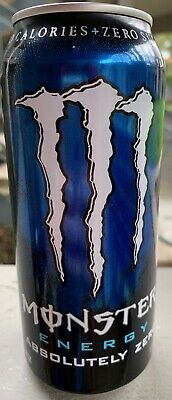 New Sealed Monster Energy Absolutely Zero Drink 16- Ounce Cans Zero Sugar