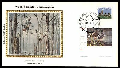 Mayfairstamps WILDLIFE WETLANDS HABITAT CONSERVATION COLORANO SILK UNSEALED FDC