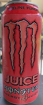 New Sealed Monster Energy Pipeline Punch Juice 16- Ounce Cans