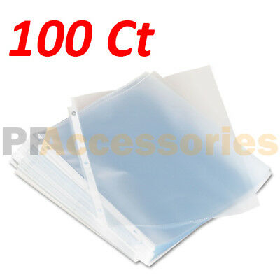 Pack of 100 Economy Weight Clear Poly Sheet Page Protectors Non-Stick 8.5 x 11