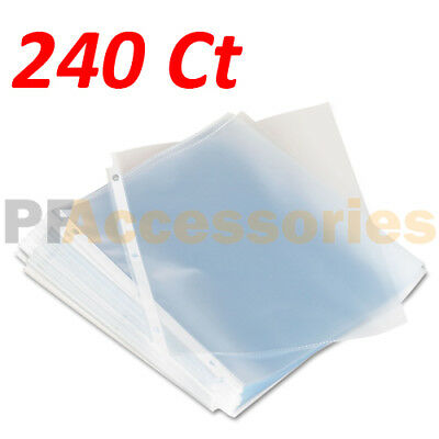 Pack of 240 Economy Weight Clear Poly Sheet Page Protectors Non-Stick 8.5 x 11