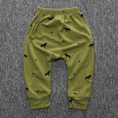 Baby Boy Girl Harem Pants Cotton Trousers Bottoms PP Leggings Casual Clothes