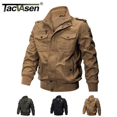 TACVASEN Mens MA-1 Jacket Pilot Military Jacket Coats Air Force US Army  Jackets 279a14430e4
