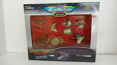 Star Trek Television Series 11 Micro Machines With Display Stand Nib .