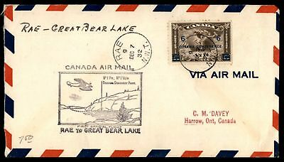 Mayfairstamps RAE NWT FIRST FLIGHT DEC 7 1932 AIR MAIL COVER TO GREAT BEAR LAKE