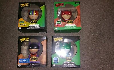 Lot of 4 Batman DC Dorbz. Rainbow Batman Joker Batman Holiday and Zur LOOK