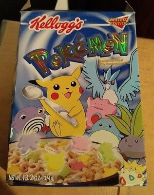 Collectible Kellogg's Pokemon Limited Edition Holographic Foil Cereal Box