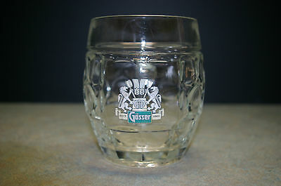 "Vintage 'gosser'  5"" Tall Glass  Beer Mug"