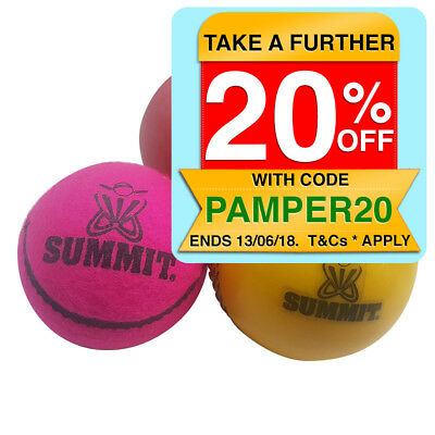 Summit All Rounder 3PK Cricket Balls Yorker/One Dayer/Bouncer Backyard/Street