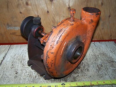 Old Belt Driven Rotary Type RED JACKET Water Pump Jack Hit Miss Gas Engine Steam