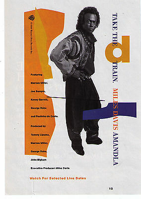 "1989 Miles Davis ""Amandla"" Record Album Print Advertisement"