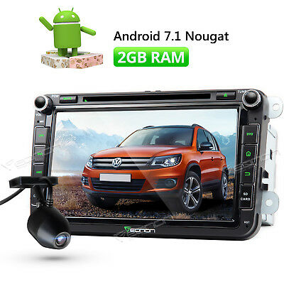 DVR Android 7.1 Car DVD GPS for VW Skoda Seat Quad Core 1080P Stereo Head Unit