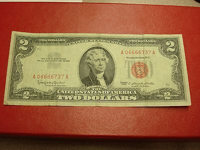 1963 - USA $2 note - two dollar bill - A06666737A