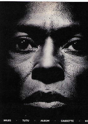 "1986 Miles Davis ""Tutu"" Record Album Print Advertisement"