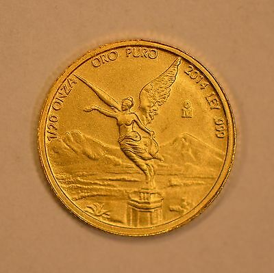 2014 Mexico 1/20 Onza gold Libertad coin