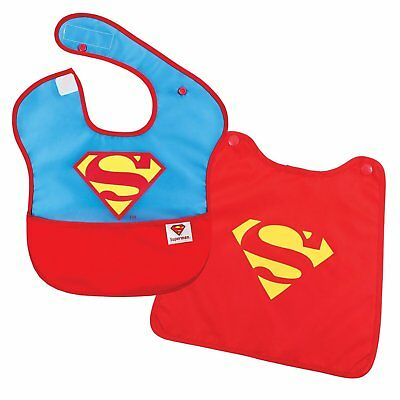Bumkins DC Comics Superman SuperBib with Cape (6-24 Months) Baby Bib