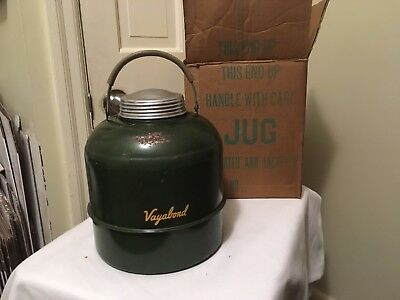 Vintage Vagabond Metal Insulated Jug ~ Jacketed And Insulated