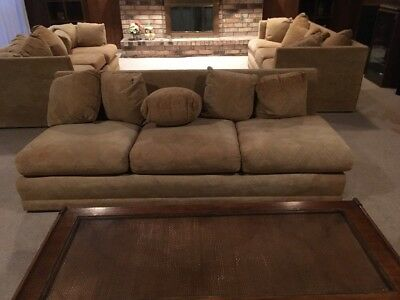 Retro Tan Sectional Sofa Local Pickup or Send Your Shipper!!!