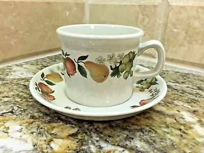 Wedgwood QUINCE - set of one CUP AND SAUCER - Made in England - free shipping