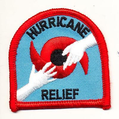 Girl Boy Cub HURRICANE RELIEF Disaster Help Volunteer Patch Badge Crest Scout