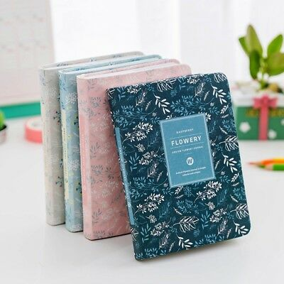 """Flowery ver.2"" 1pc Fabric Cover Monthly Weekly Planner Cute Notebook Diary Memo"