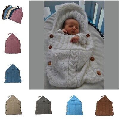 New Baby Infant Knitted Crochet Costume Photo Photography Prop Sleeping Bags.pro