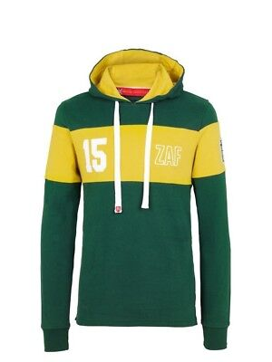 (Medium, Z112 Mid Green/Yellow) - Front Up Rugby Men's Twenty15 Hoody Mid Layers