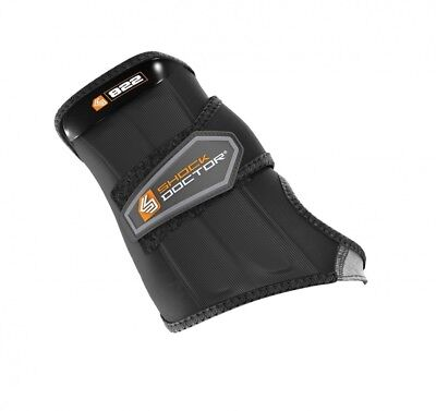 (Large, Black) - Shock Doctor Wrist Sleeve Wrap Support (Right)
