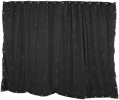 1 x 2m Nero Star panno con 36 BLU LED