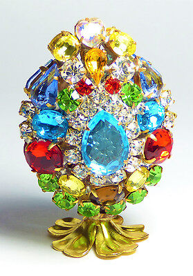3D EGG Luxury Vintage Czech Handmade Rhinestones Easter Decoration