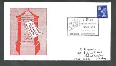 26-May-1972, 54th Philatelic Congress of great Britain Letter Box ***Rose***