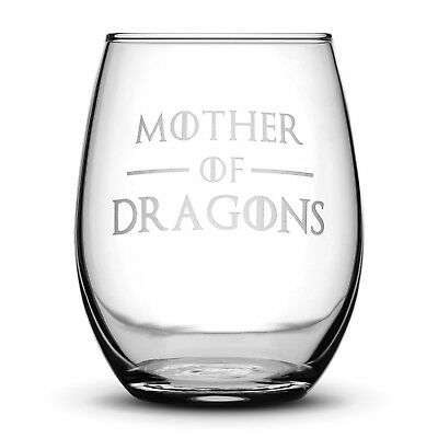 Premium Game of Thrones Wine Glass, Mother of Dragons