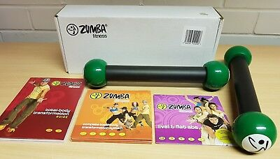 Zumba Fitness Kit With Toning Sticks - 4 Dvd's & Transformation Guide.