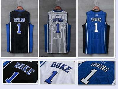 Kyrie Irving # 1 NCAA Duke Blue Devils Hommes Cousu Basket-ball Cousu S-XXL