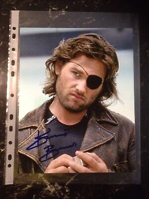 Kurt Russell Signed 8X10 Escape From New York Photo With Coa
