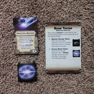 X-wing Miniatures Proton Bomb (Card & Token)