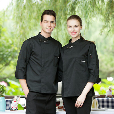 High Quality Chef Uniforms 5-color Long Sleeve Men Food Services Chef Jackets
