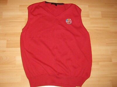 Mens Red Golf Jumper { L} CELTIC MANOR RYDER CUP1927 2010 OFFICIAL MERCHANDISE