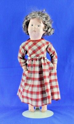 Antique Shoenhut Doll All Wood And Wigged Marked Jan 17, 1911