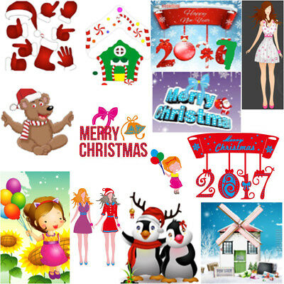 Christmas Metal Cutting Dies Stencil Scrapbooking Album Paper DIY Crafts Decor
