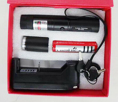 Powerful Green Pointer Laser Pen Adjustable Focus 532nm Laser light 1mw BLACK