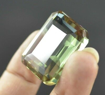 EGL Certified 86.10 Ct Emerald Cut Loose Brazilian Alexandrite Gem For Jewellery