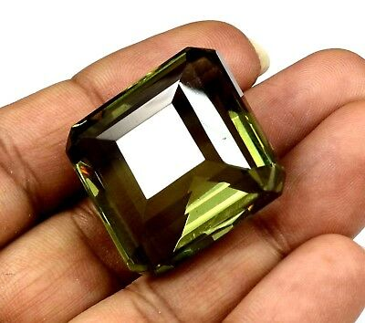 EGL Certified 94.10 Ct Emerald Cut Loose Brazilian Alexandrite Gem For Jewellery