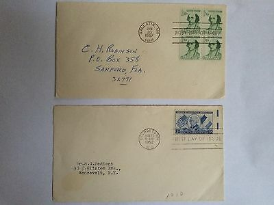 Stamps - USA - 2 x FDC First Day of Issue 1952 & 1967