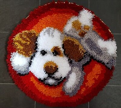 Complete childs latch hook rug