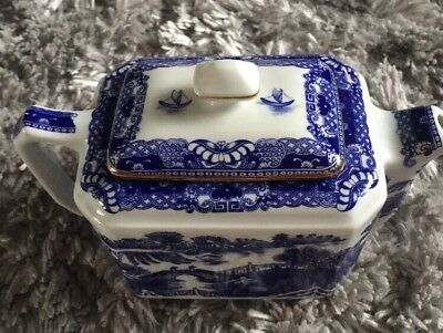 Wade Ceramics For Ringtons Tea Company Willow Pattern Tea Pot (Vintage)