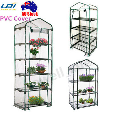 2-6 Tier PVC Cover Apex Garden Greenhouse Tall Green Plant House Shed Storage AU