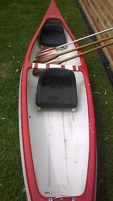 Canoe old Canadian style fibreglass 12 ft 6   3.8 metres